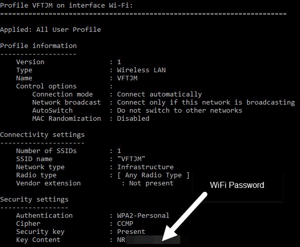 wi-fi password configure