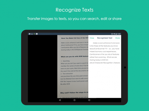 camscanner text rocognition apps