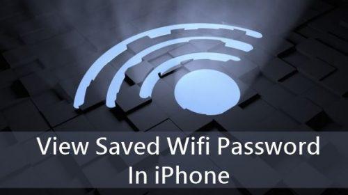 wi-fi password view