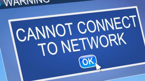 Network connection problem.