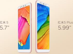 Xiaomi Redmi 5 and Xiaomi Redmi 5 Plus
