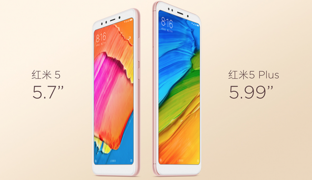 Xiaomi Redmi 5 and Xiaomi Redmi 5 Plus