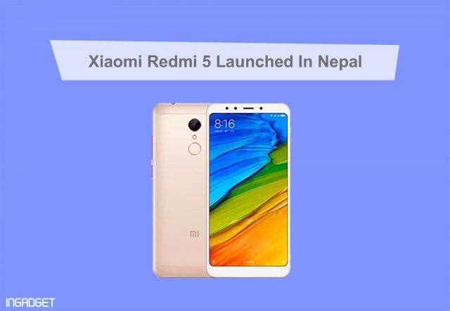 Xiaomi Redmi 5 Price in Nepal