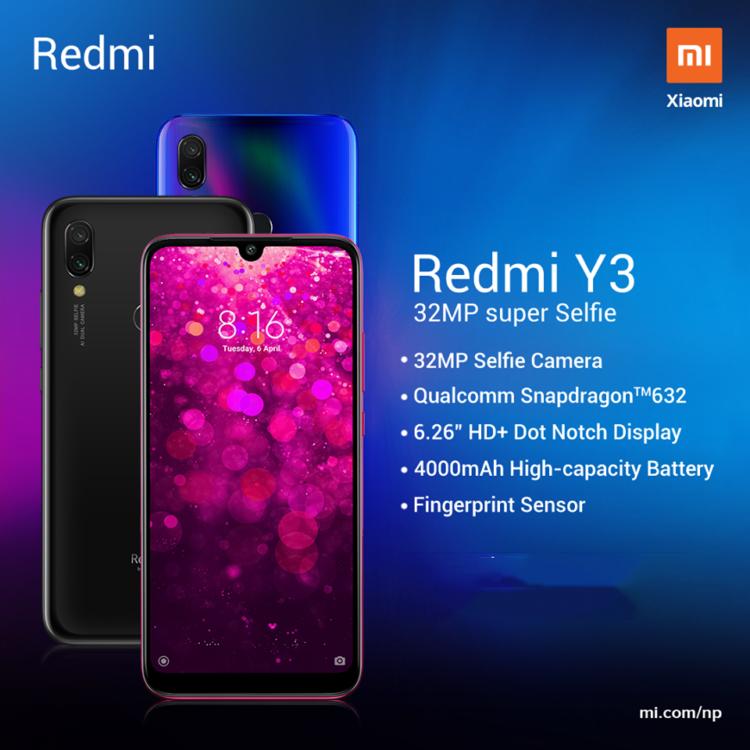 Xiaomi Redmi Y3 Price in Nepal